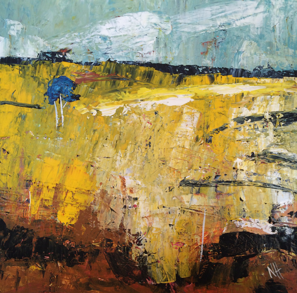 Painting by Narelle Huggins called One Tree Field