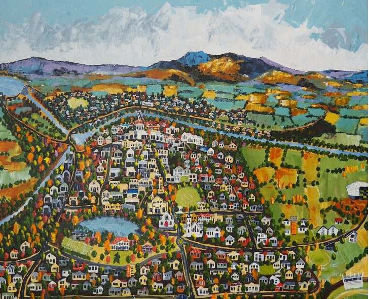 Painting called Cambridge Town of Champs