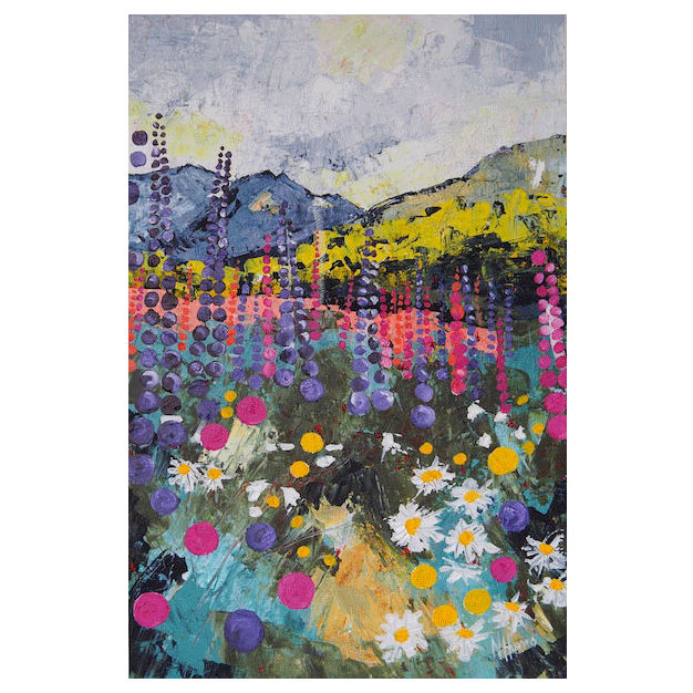 Wildflower bonanza - limited edition print by Narelle Huggins