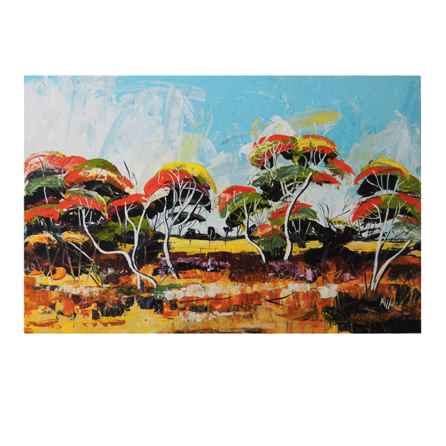 Dancing Trees - Limited Edition Print - by Narelle Huggins