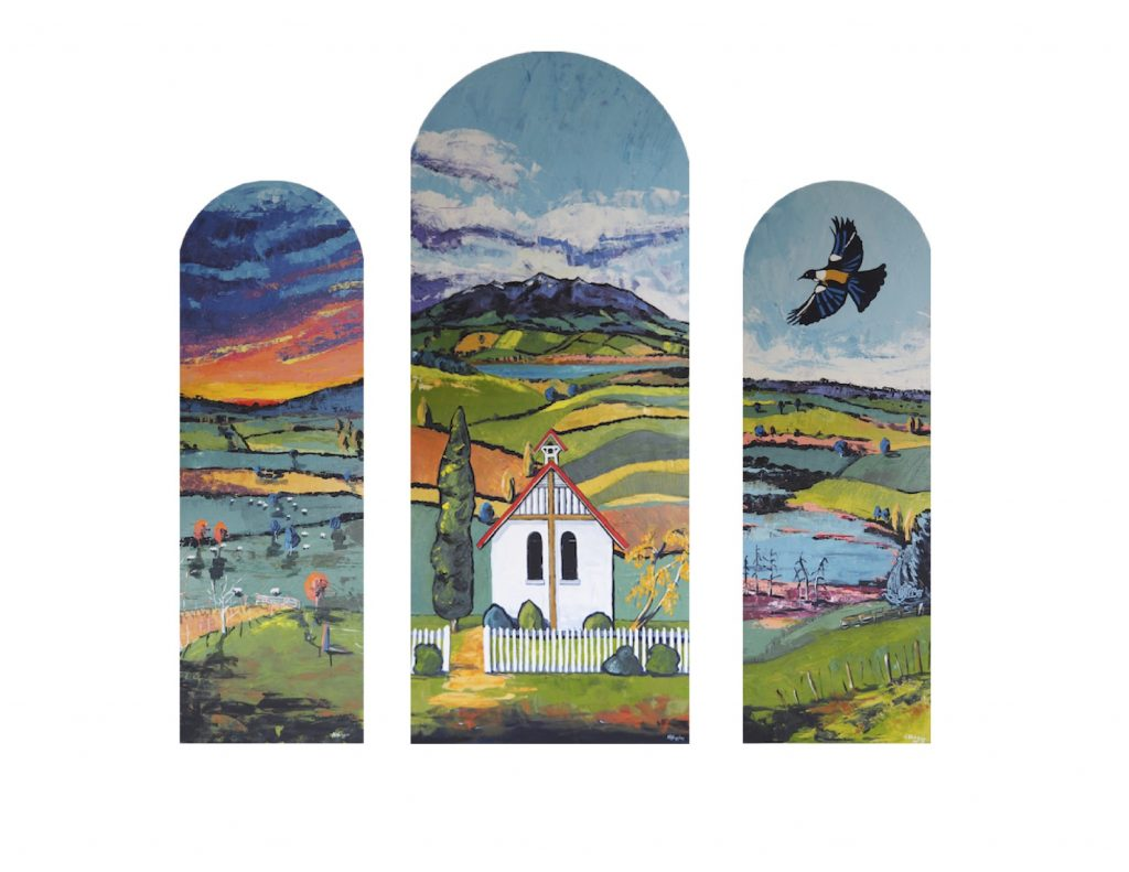 Ohaupo panels by Narelle Huggins