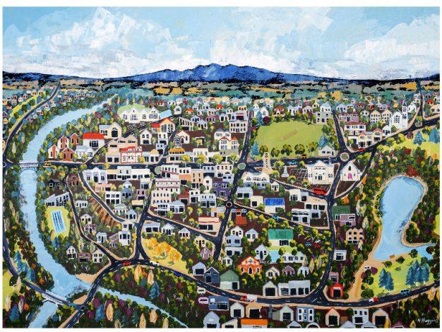 Cambridge on the Waikato by Narelle Huggins