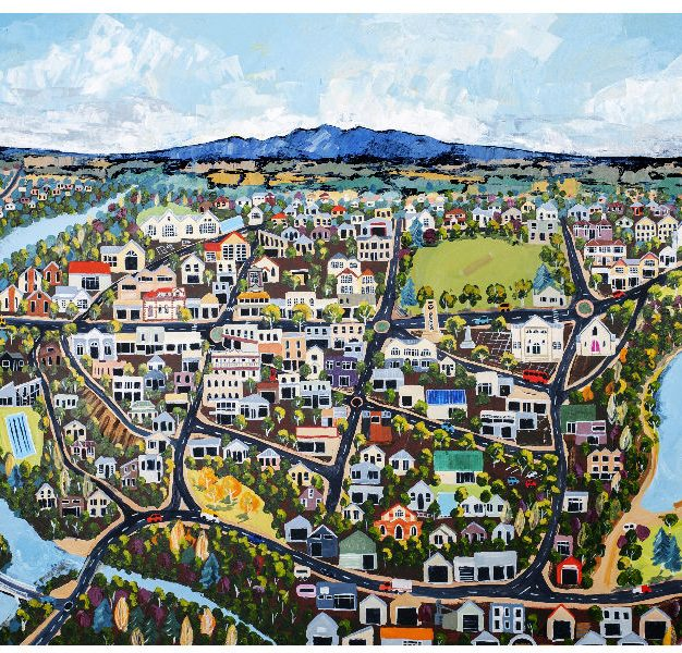 Cambridge on the Waikato by Narelle Huggins
