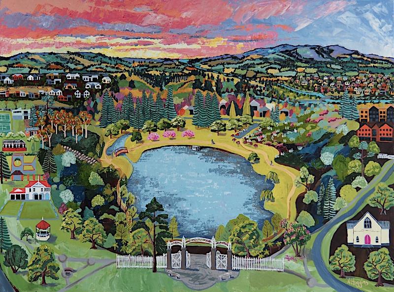 Gate to Te Koo Utu by Narelle Huggins