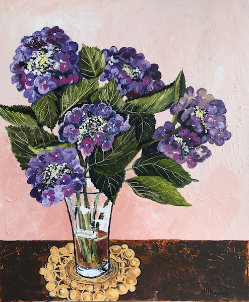 Painting of hydrangea by Narelle Huggins