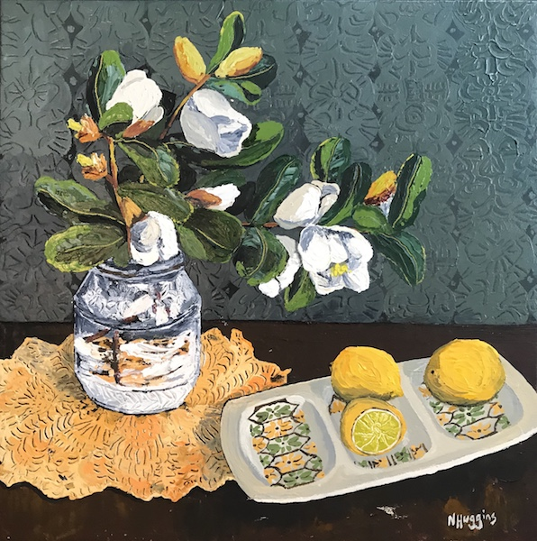 Magnolias and limes by Narelle Huggins