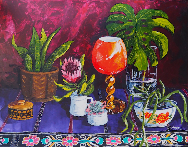 Painting by Narelle Huggins called The stage is set